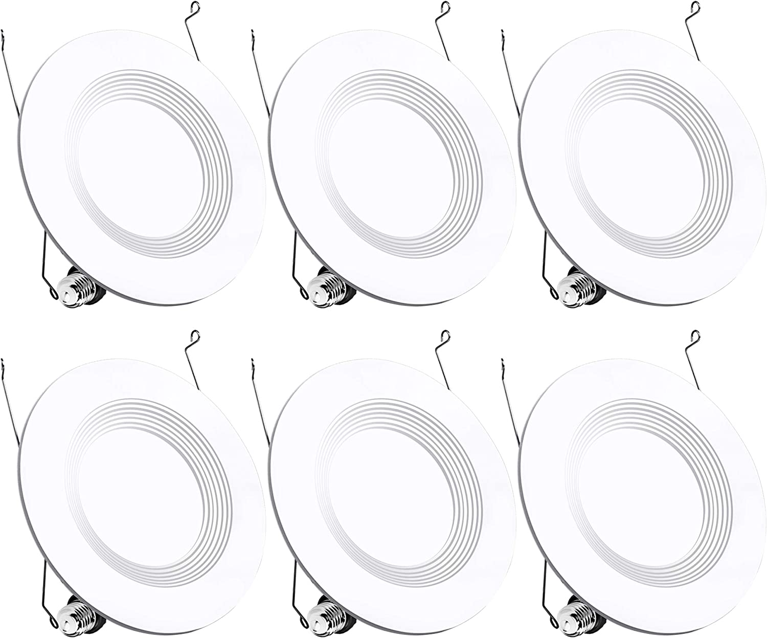 5 6 Inch Led Recessed Lights Downlight (5 Inch Compatible), 13W (120W Equivalent) Recessed Lighting, 4000K (Cool White) Dimmable Led Can Lights UL and Energy Star Certified 6 Pack