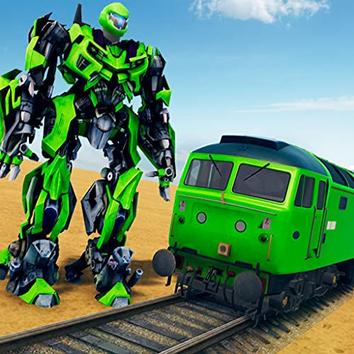 Reglas de supervivencia en juegos de guerra Battlefield Adventure 3D: juegos de conducción y simulación de trenes de transformación de robots para niños