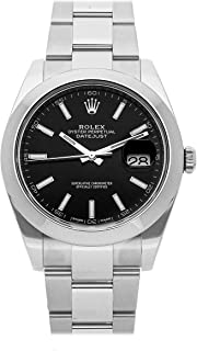 Rolex Datejust Mechanical (Automatic) Black Dial Mens Watch 126300 (Certified Pre-Owned)