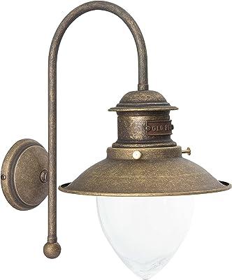 Premium Applique murale en laiton antique E27Jusqu'à 40W 230V pour verre transparent lampes chambre couloir salon salle à manger lampe éclairage lampe murale