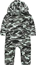 City Mouse Toddler Boys Girls Camouflage Print Thin Hoodies Romper Camo Jumpsuit Onesies