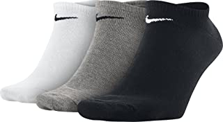 Nike Unisex Cushioned Lightweight 3 Pair Socks, Black (Black/White/Green)