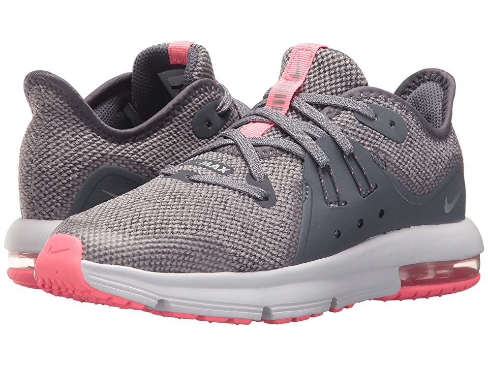 Nike Kids Air Max Sequent (Little Kid) (Light Carbon/Metallic Silver) Girls Shoes