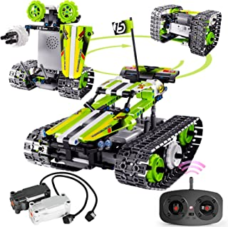 Remote Control Car Building Kit - RC Tracked Racer 3 in 1 Building Set, Fun, Educational, Learning, STEM Toys, Best Gift f...