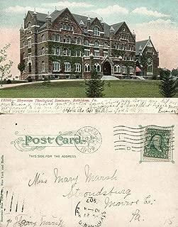 BETHLEHEM PA MORAVIAN SEMINARY 1907 UNDIVIDED ANTIQUE POSTCARD