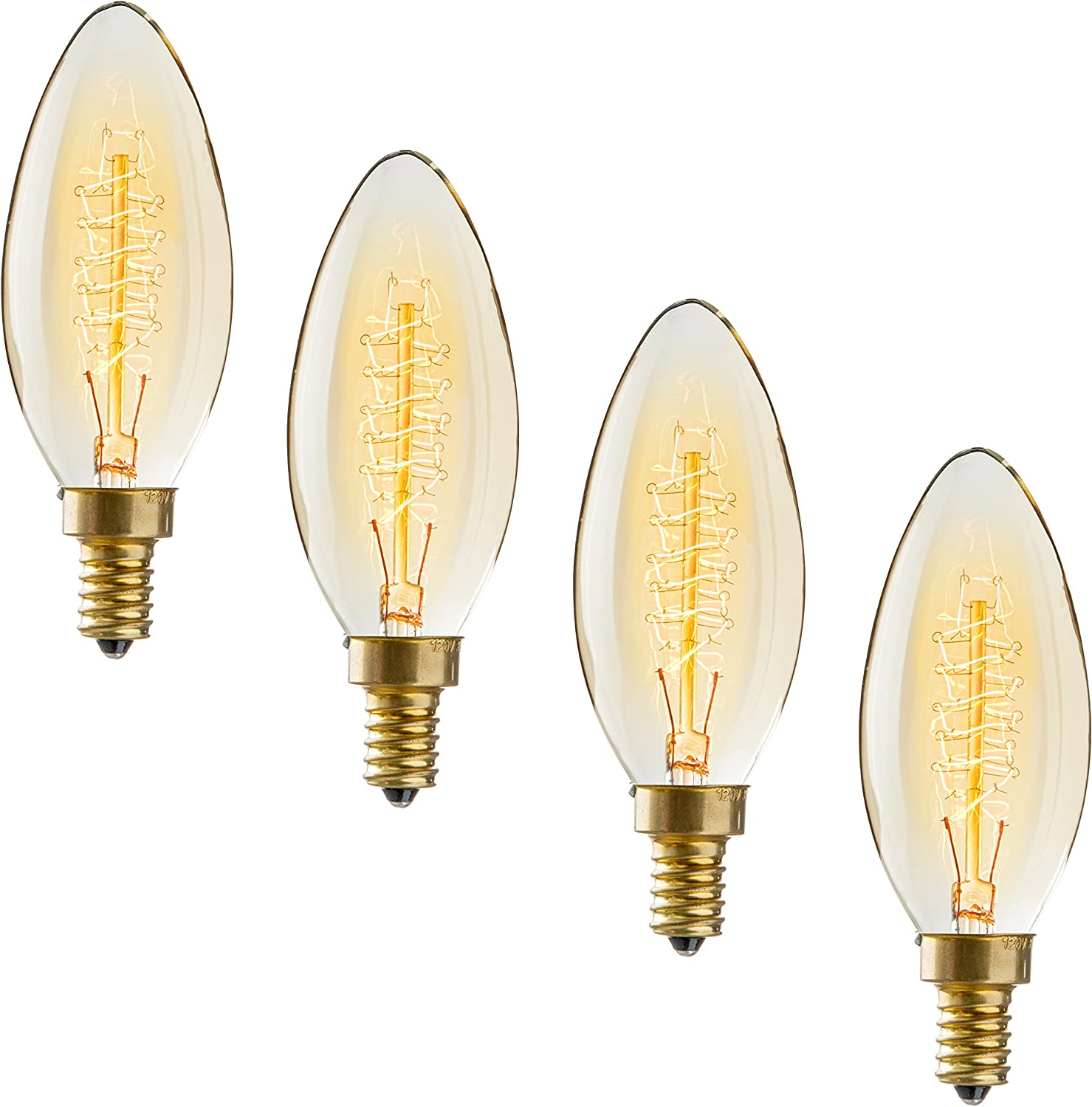 1-12 Pack E27 Screw Cap Filament Vintage Edison Style Cafe Bedroom Bulb Dimmable