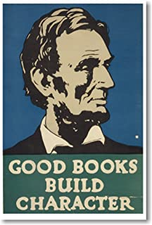 Abraham Lincoln - Good Books Build Character - NEW Vintage Reproduction WPA POSTER by PosterEnvy