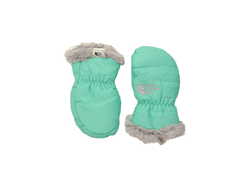 The North Face Kids Reversible Mossbud Swirl Mitt (Infant) (Bermuda Green/Metallic Silver) Extreme Cold Weather Gloves