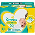 120-Count Newborn Pampers Swaddlers Disposable Baby Diapers