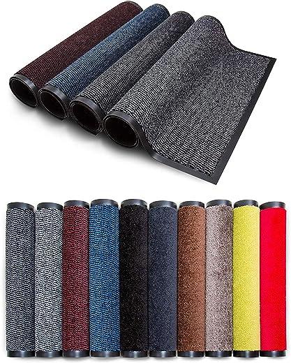 Carpet Diem Rio Schmutzfangmatte – 5 Größen – 10 Farben Fußmatte mit äußerst starker Schmutz und Feuchtigkeitsaufnahme – Sauberlaufmatte in dunkel…