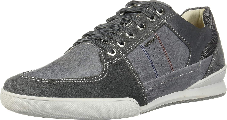 Geox Mens Kristof Waxed Leather City Sneaker Sneaker