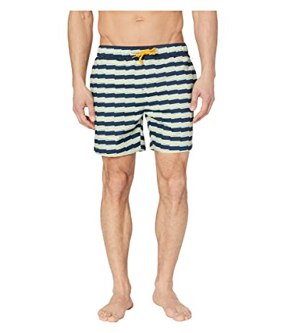 Original Penguin Zigzag Stripe Elastic Waist (Dark Sapphire) Men
