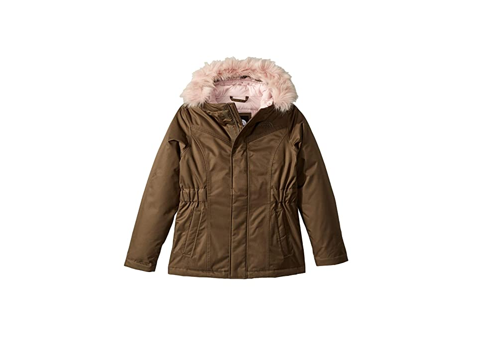 The North Face Kids Greenland Down Parka (Little Kids/Big Kids) (New Taupe Green) Girl