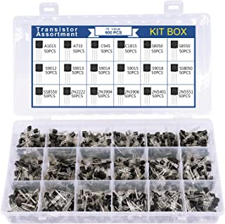 18 waarden 900 stuks A1015 A733 C945 C1815 S8050 S8550 S9012 S9013 S9014 S9015 S9018S S8050 SS8550 2N2222 2N3904 2N3906 2N...