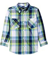 Tommy Hilfiger Kids - Basil Plaid Long Sleeve Shirt (Big Kids)