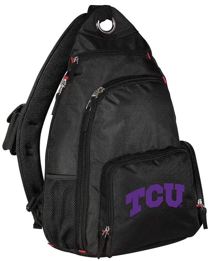 批判的に刻む承認するテキサスクリスチャン大学バックパックSingle Strap TCUスリングバックパック