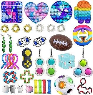ZZFI Fidget Toy Pack,Anti Stress Pack,Jouets Anti,Stress pour la Concentration et Le Calme,Y Compris Balle Anti Stress Ant...