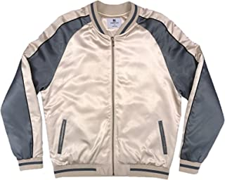 Standard Issue NYC Unisex Gold & Grey Color Block Jacket