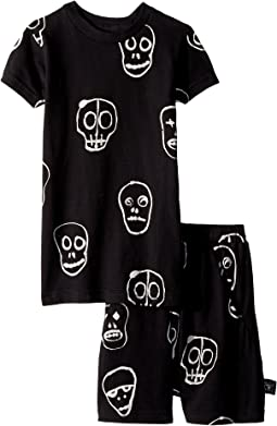 Skull Mask Short Loungewear (Toddler/Little Kids)