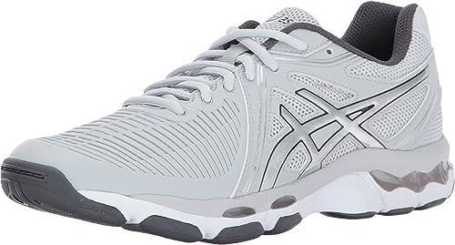 ASICS - Chaussures ballistiques Gel-Netburner pour Femme, Femme, 37 EU, Glacier gris argent Dark gris  100% garantie de prix