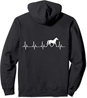 Horse Heartbeat Horse Lovers Pullover Hoodie