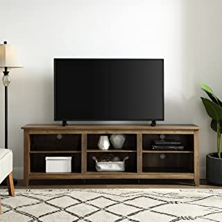 WE Furniture TV Stand, 70 Inch, Reclaimed Barnwood