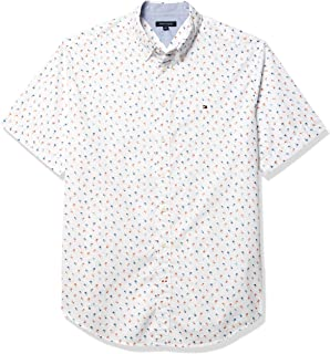 Men's Big and Tall Button Down Short Sleeve Shirt Oxford