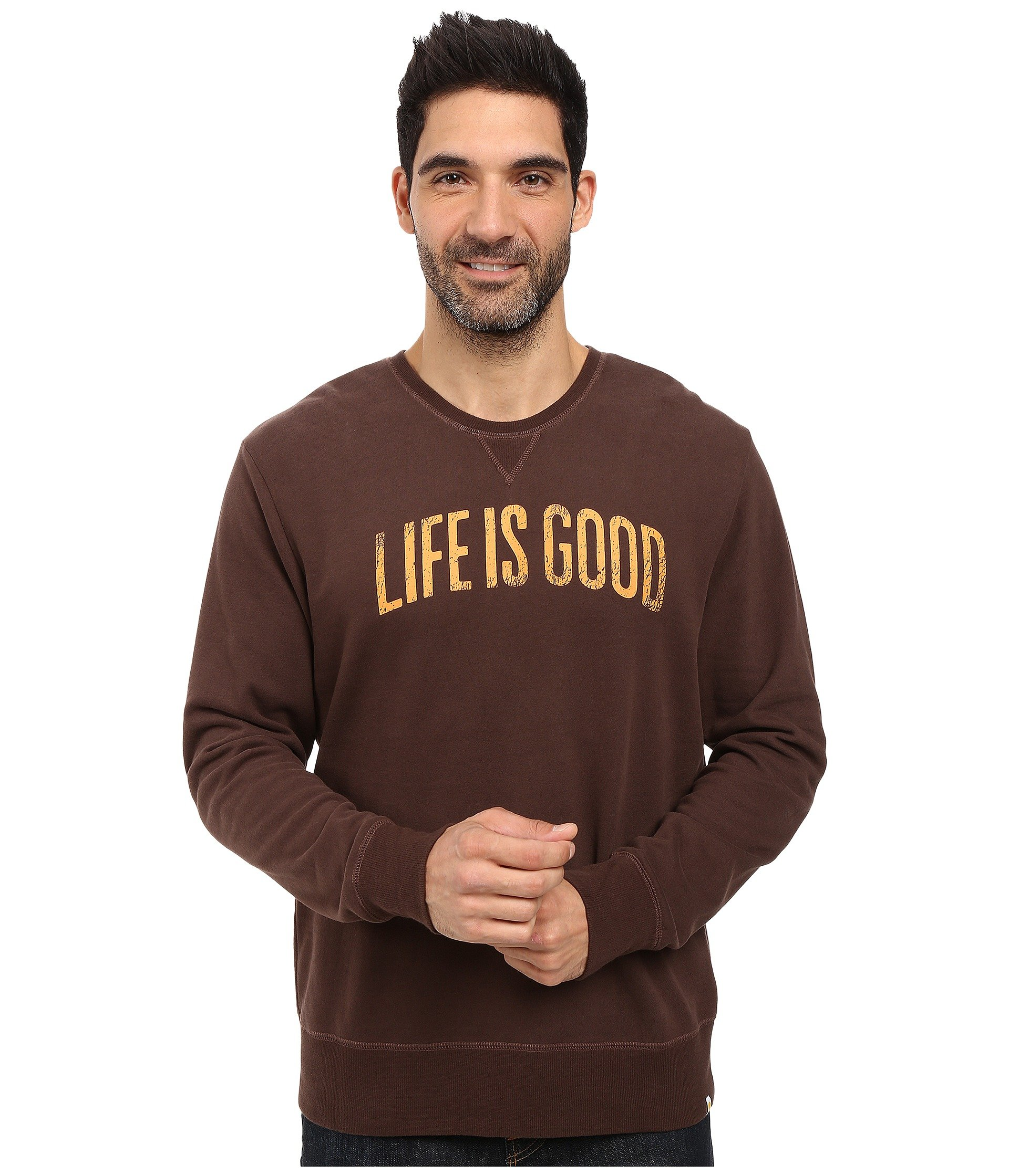 Buzo o Chaqueta Deportiva para Hombre Life is Good Life is Good® Arch Go-To Crew  + Life is Good en VeoyCompro.net