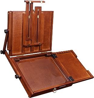Sienna Plein Air Pochade Box, Artists Adjustable Easel and Palette Box (CT-PB-0910) - Medium