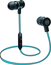 Biconic Bluetooth Wireless Magnetic Hands Free In The Ear Stereo Cushioned Earbuds Blue
