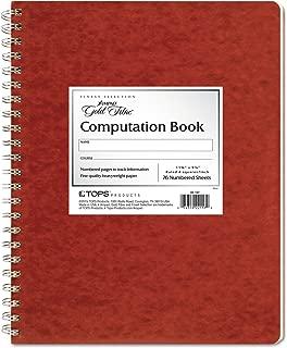 Ampad Computation Book, 4x4 Quad Ruled, 76 Sheets, Ivory, 11-3/4