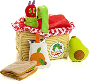 KIDS PREFERRED World of Eric Carle The Very Hungry Caterpillar Picnic Basket Playset, Multicolor, 55721