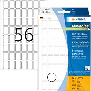 AVERY Zweckform Vielzweck Etiketten 18 x 12 mm ablösbar weiß 1.800 Etiketten