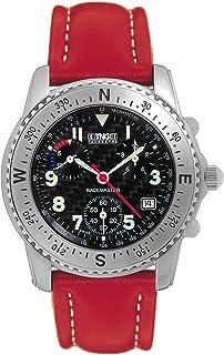 TNG - Reloj de Pulsera Mujer, Piel, Color Rojo