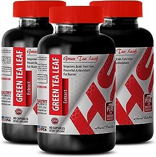 Green tea supplement pills - 300 MG GREEN TEA LEAF EXTRACT - improve body weight (3 Bottles)