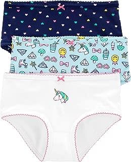 AOSKERA Girls Assorted Panties 5 Pack Underwear Cute Boyshort for 2-10 Years