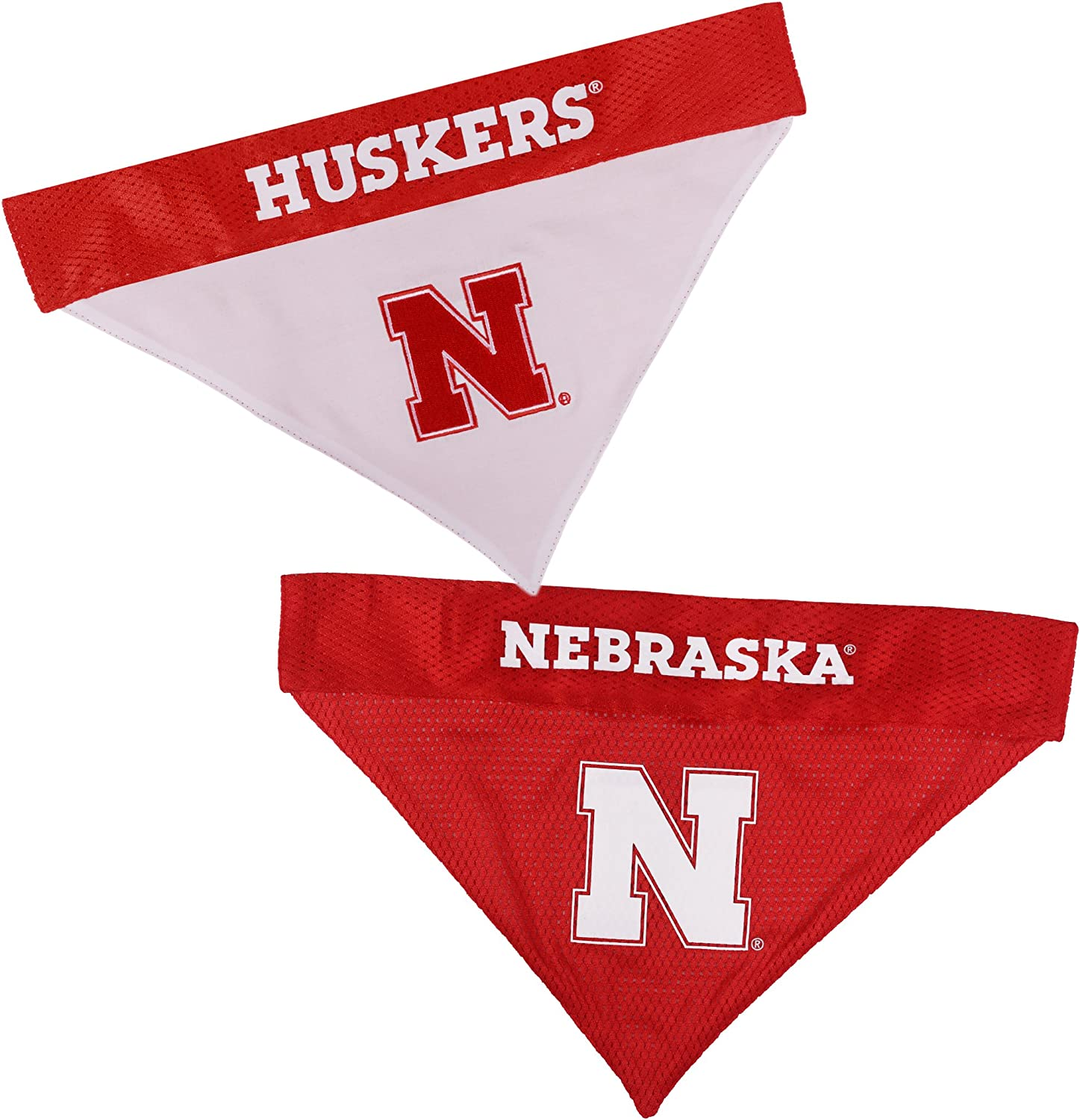Pets First Nebraska Reversible Dogs for Max 43% OFF Bandana Now free shipping