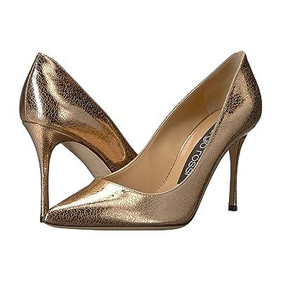 Sergio Rossi Godiva (Oro Rosa Crack Lame) High Heels