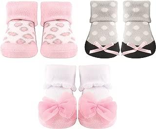 Luvable Friends - Calcetines de bebé para niña (3 unidades)