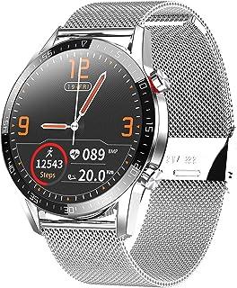 Smartwatch, Reloj Inteligente Impermeable IP68 Pulsera Actividad Hombre Mujer, Inteligente Reloj Deportivo Reloj Fitness con Pantalla Táctil Completa Pulsómetro Cronómetros per iOS Android(Plata)