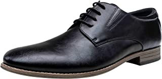 VOSTEY Men's Dress Shoes Leather Brogue Wingtip Oxford Shoes