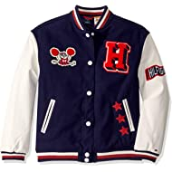 Boys' Adaptive Varsity Jacket with Magnetic Buttons