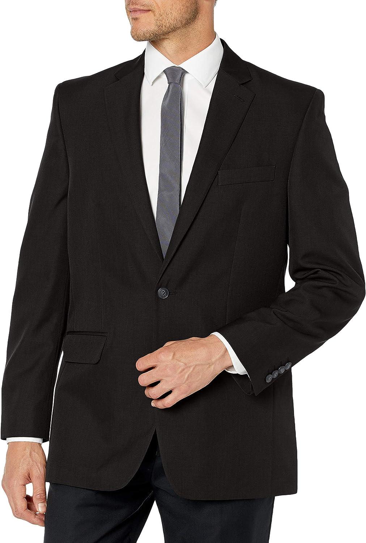Haggar Men's Travel Performance Mini Tic Tailored Fit 2-Button Suit Separate Coat