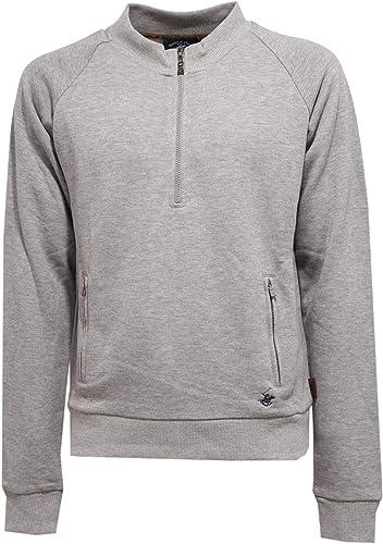 Beverly Hills Polo Club 4049K Felpa hommes gris Mid Zip Sweatshirt Man