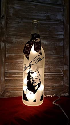 Marilyn Monroe Bottle with Lights/Mothers Day/Lamp/Decoration