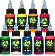 Millennium Mom's Nuclear UV Blacklight Tattoo Ink - 9 Color Set - 1 oz