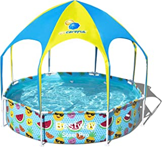 Bestway An Octagonal Ocean Pool With An Umbrella , 244X51 Cm , Multi Color - 26-56958