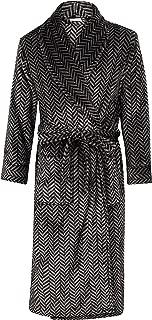 Walker Reid Mens Luxury Thick Soft Herringbone Fleece Belt Bath Robe Dressing Gown