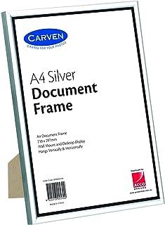 CARVEN QFWDSILVA4 Document Frame, Silver A4