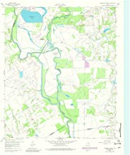 Texas Maps - 1960 Creslenn Ranch, TX USGS Historical Topographic Map - Cartography Wall Art - 37in x 44in